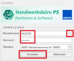 Anmeldung - Handwerksbüro PS