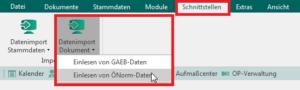 Schnittstellen > Datenimport Dokument > Einlesen von ÖNorm-Daten